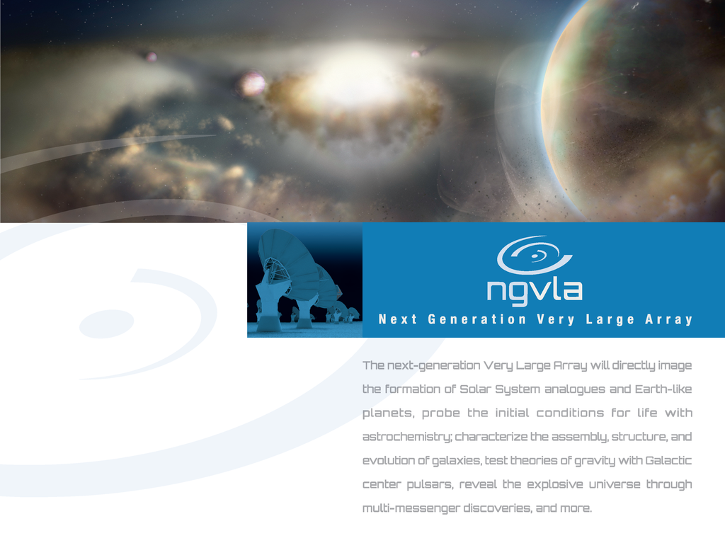 Ngvla brochure science pages cover