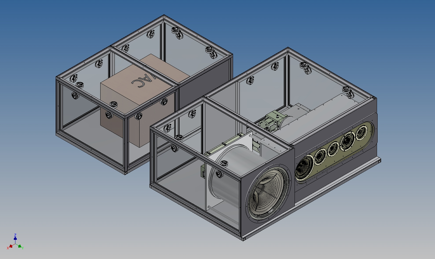 Rendering of the ngVLA Front End System (6-band Reference Design)