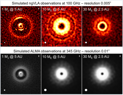 ngVLA Simulations of Protoplanetary Disks
